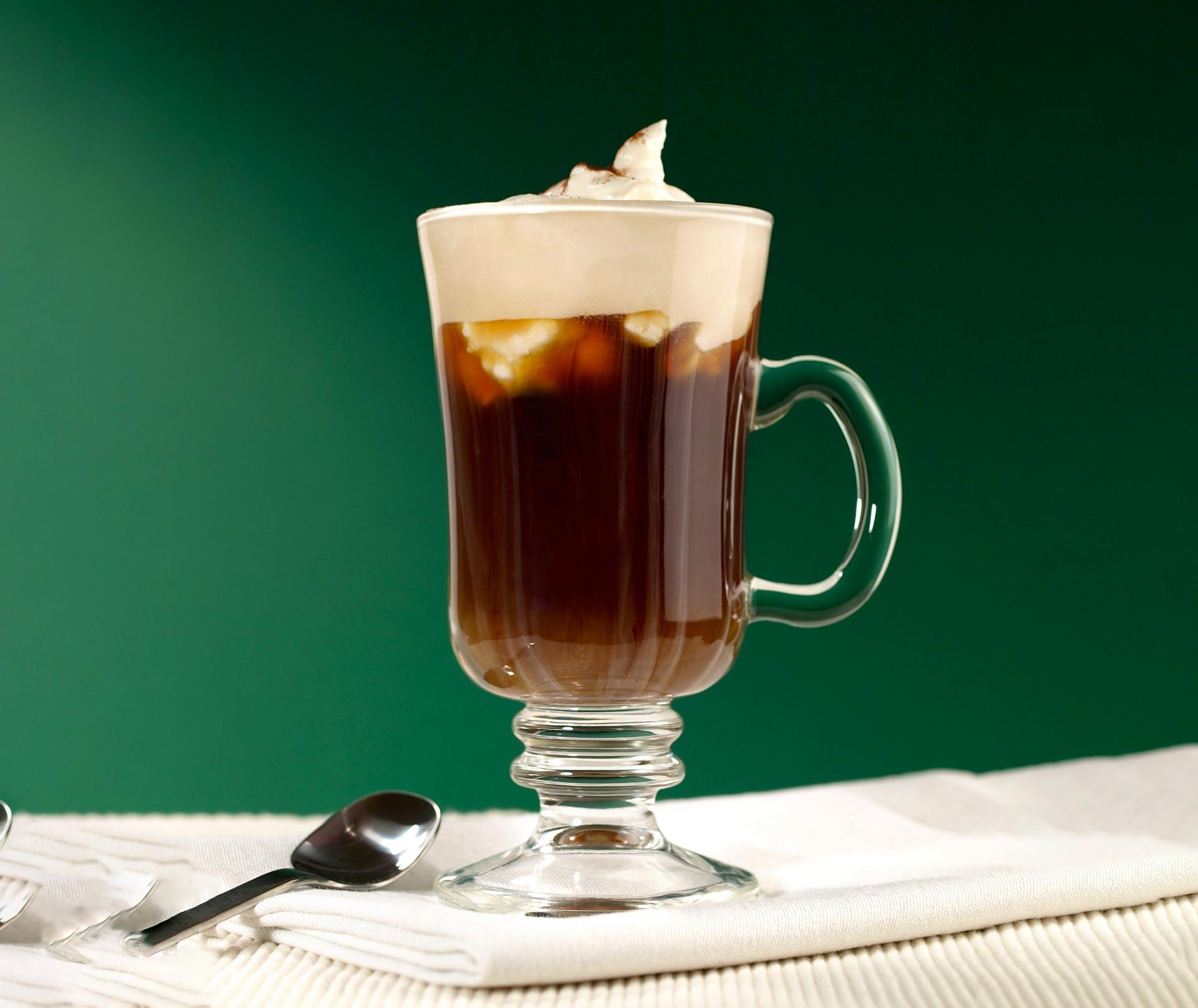 Making the classic Irish coffee